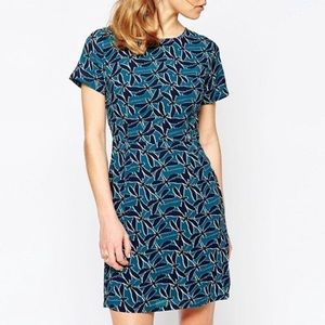 Modcloth sugarhill boutique teal dragonfly dress
